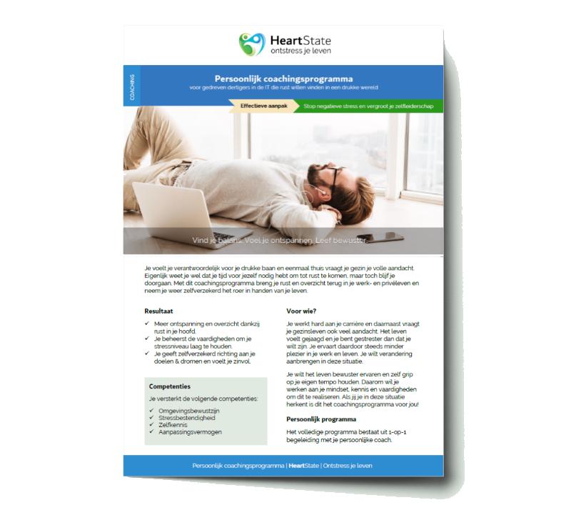 Download de brochure voor je persoonlijk coachingsprogramma