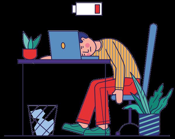 Test of je klachten hebt waardoor je overspannen raakt of in een burn-out terecht komt.
