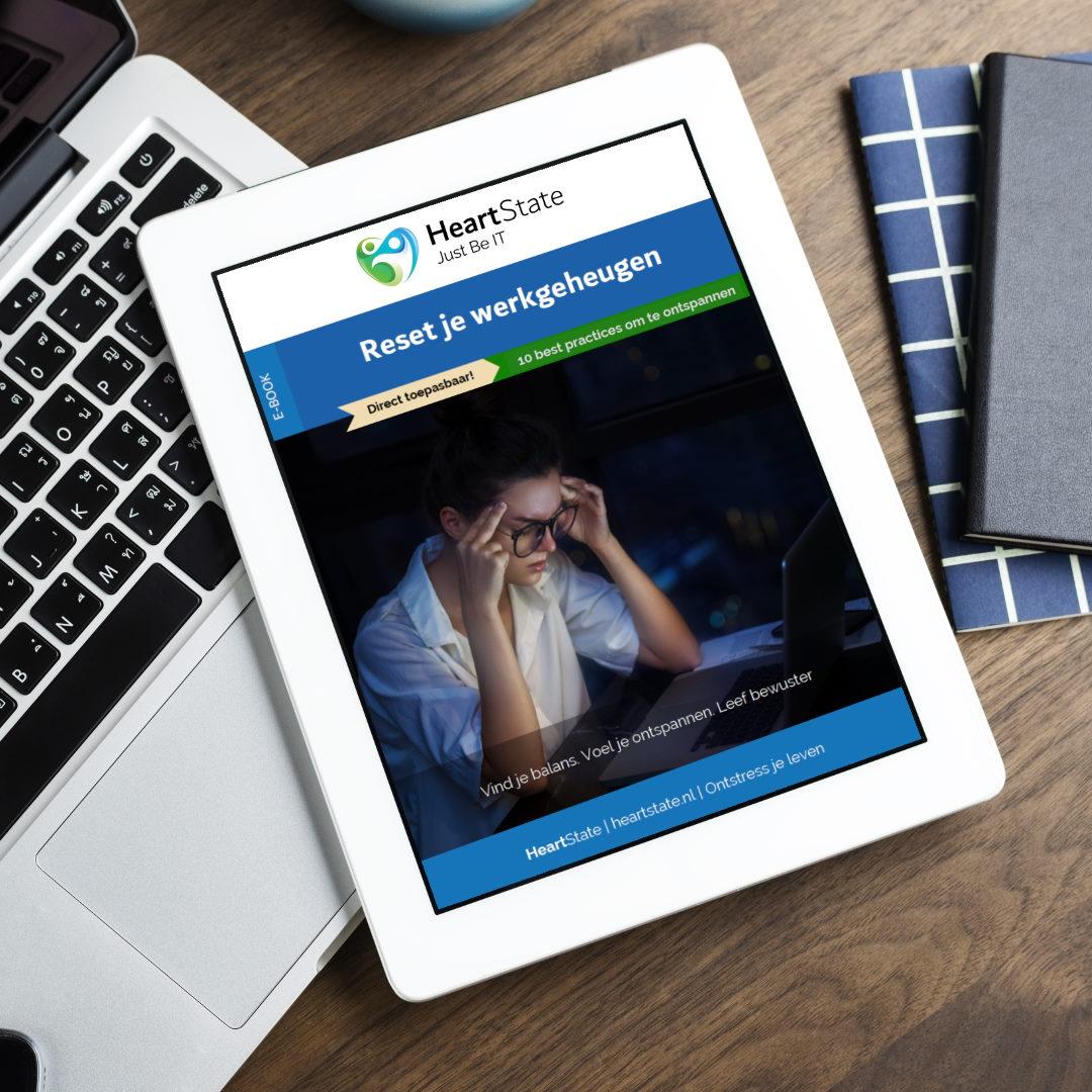 Kaft van gratis e-book Reset je werkgeheugen geschreven door Edwin Vriethoff HeartState.